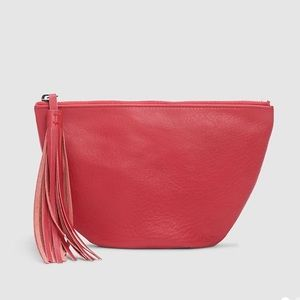 NEW Eileen Fisher leather zip pouch